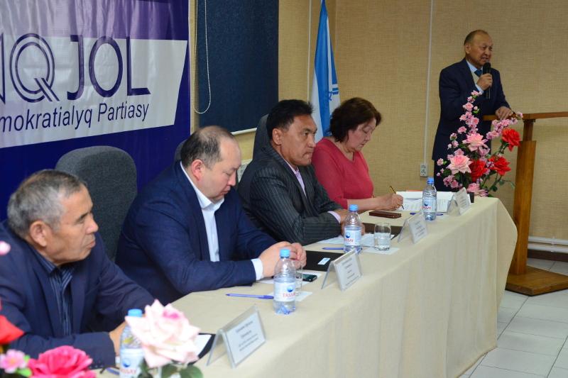 В Таразе прошла конференция областного филиала партии «Ак жол»