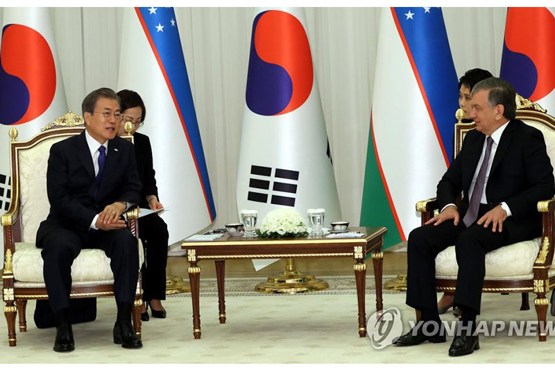 S.Korean president to hold summit with Uzbek president