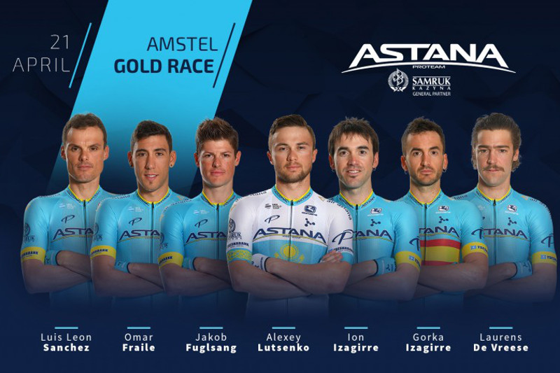 Astana Pro Team announces its roster for Amstel Gold Race 2019