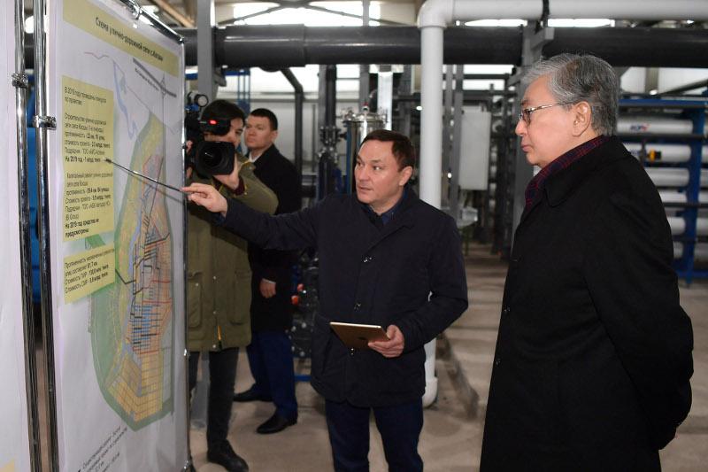 Касым-Жомарт Токаев посетил село Косшы