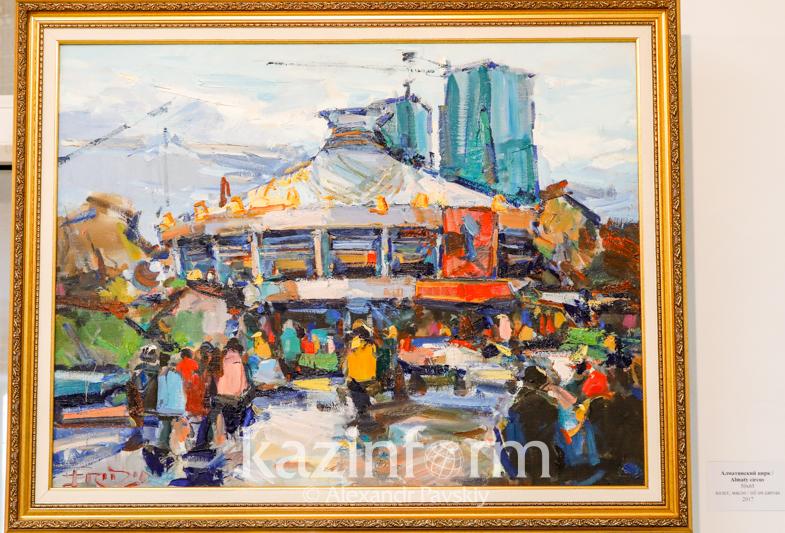 В стиле ретро Алматы: павлодарский художник представил персональную выставку