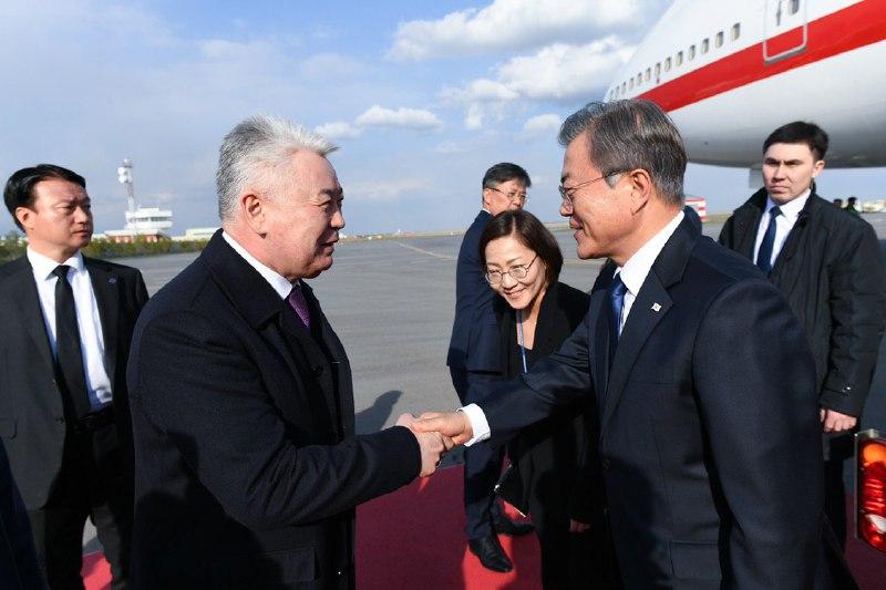 Президент Республики Корея прибыл в Нур-Султан