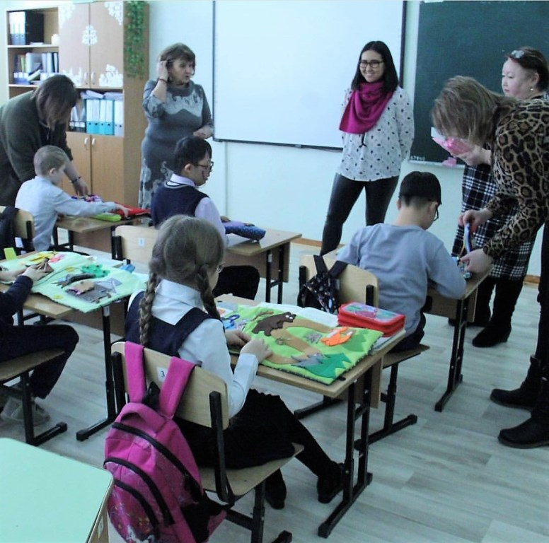Tactile felt books made in Kazakhstan