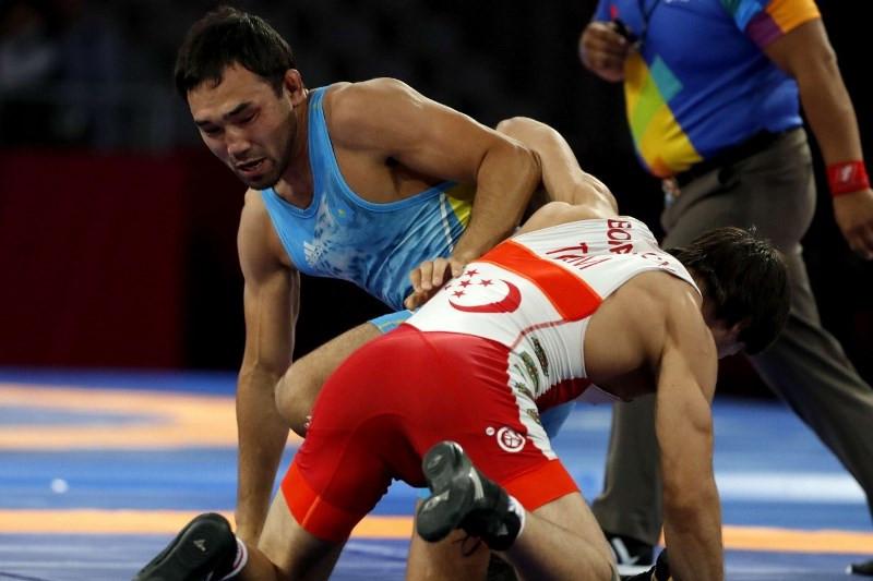 Kazakhstan pockets gold at Asian Wrestling Championships in China's Xi'an