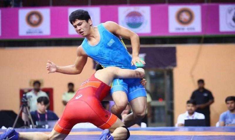 Казахстанский «вольник» завоевал «золото» на чемпионате Азии по видам борьбы
