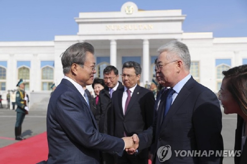 President Moon returns home from 3-nation Central Asia tour