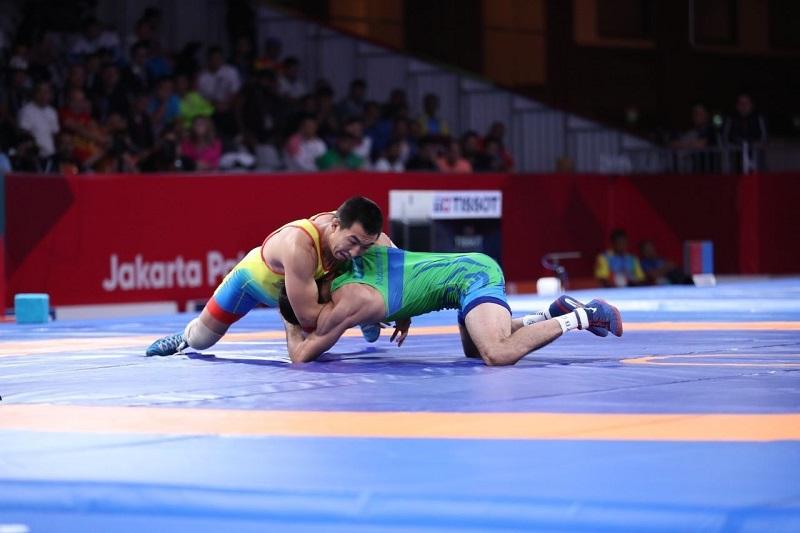 Данияр Кайсанов завоевал «золото» на Чемпионате Азии по вольной борьбе