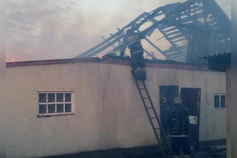 Женщина погибла при пожаре в Карагандинской области