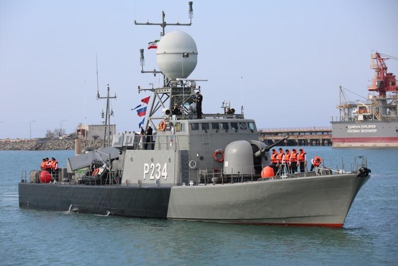 伊朗海军舰艇访问阿克套