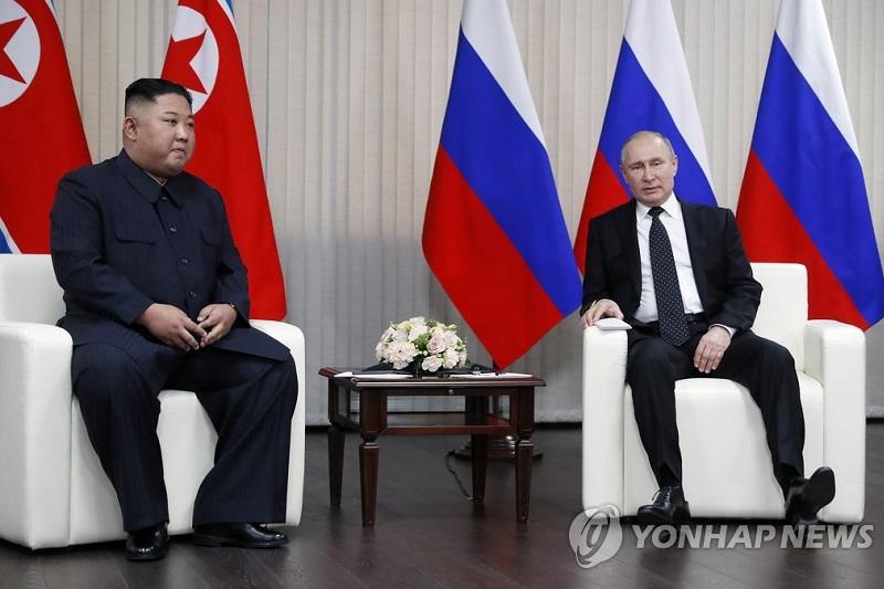 朝俄领导人在俄罗斯举行首脑会谈