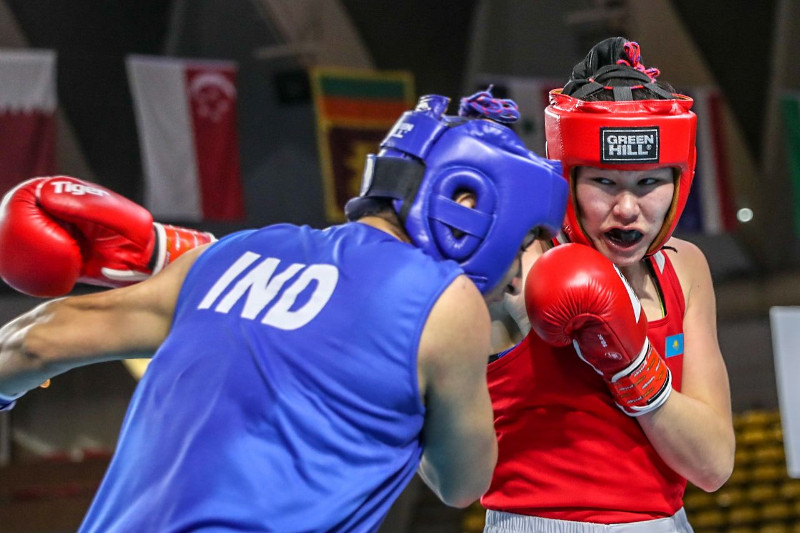Kazakh boxer scoops 5th bronze at Asian Boxing Championships