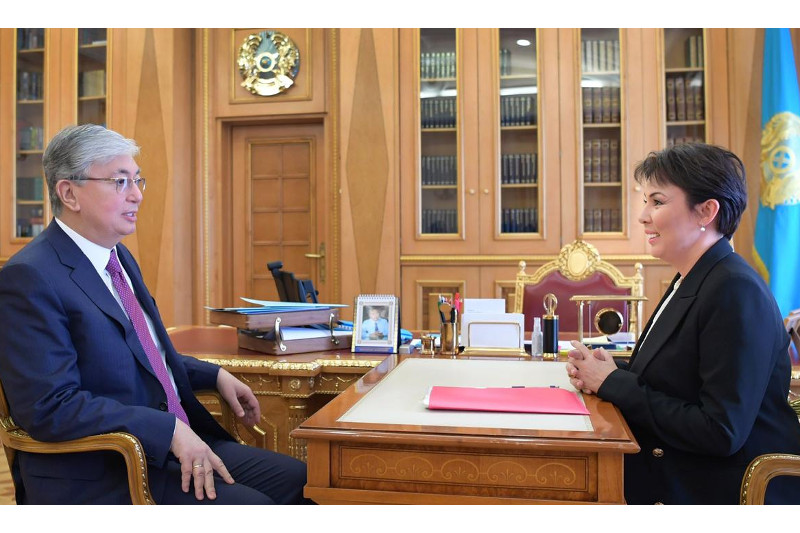 Kassym-Jomart Tokayev, Aruzhan Sain discuss supporting children with special needs