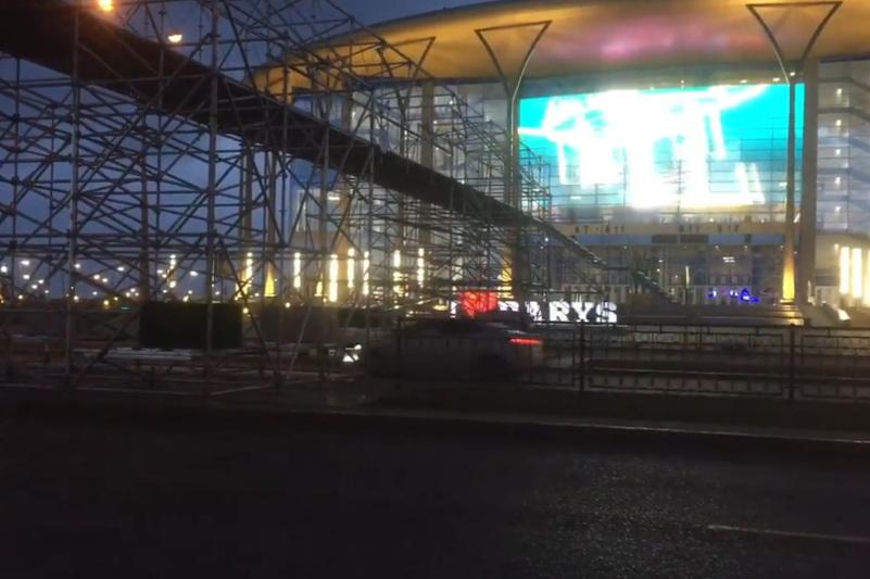 IIHF World Championship: Viaduct built at Barys Arena