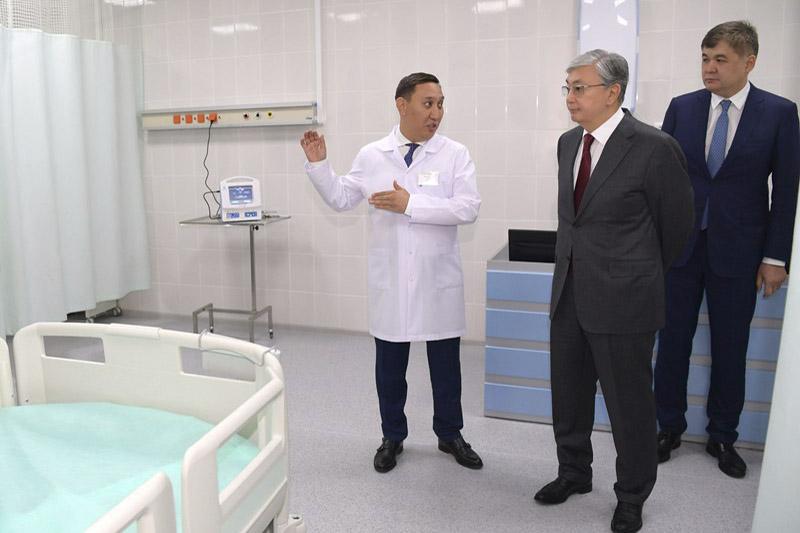 President visited Emergency Care Hospital in Semey