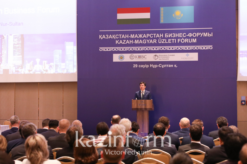 Kazakh, Hungarian businessmen gather at business forum in Nur-Sultan