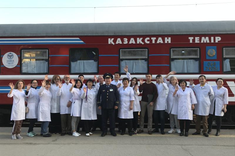 Медицинский поезд «Денсаулық» окажет помощь жителям отдаленных станций