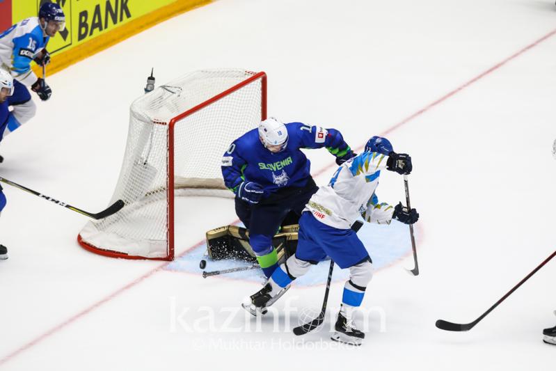 冰球世锦赛:哈萨克斯坦队战胜斯洛文尼亚