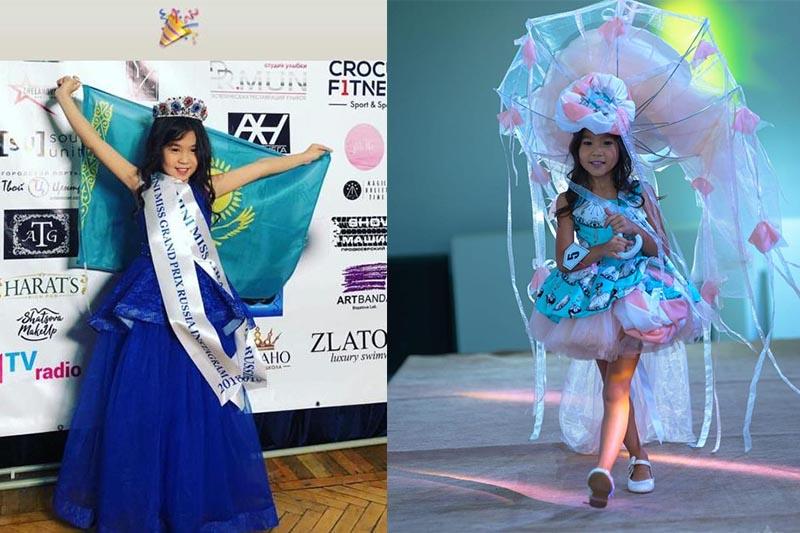 7-летняя карагандинка выступит на Little Miss World - 2019