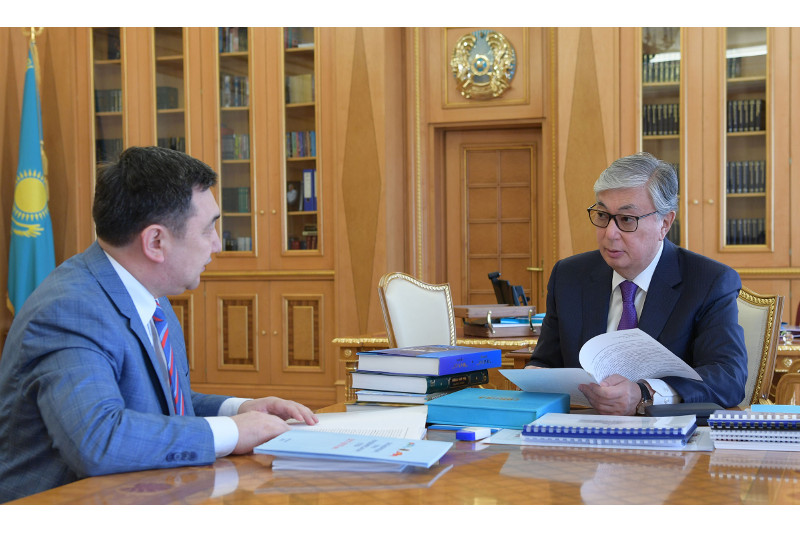 托卡耶夫总统接见国际突厥学院院长克德尔艾里