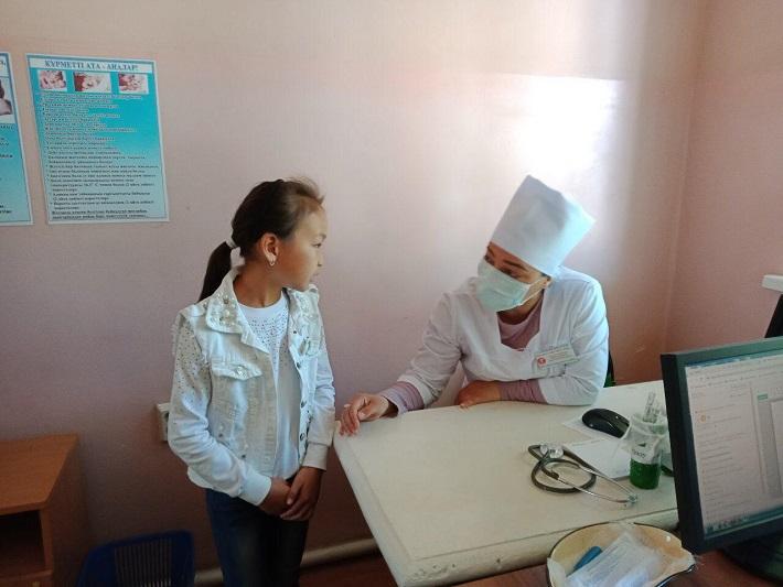 Бесплатную медицинскую помощь оказали сельчанам Туркестанской области