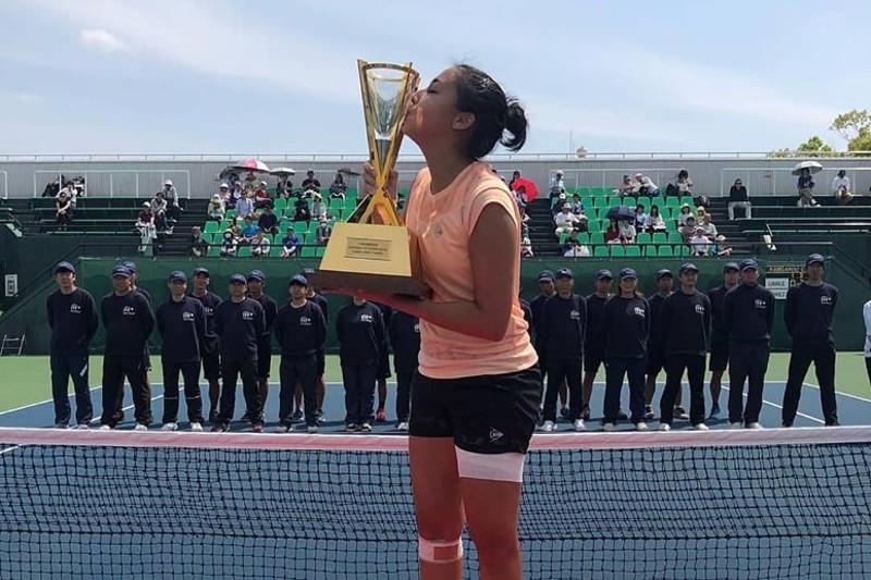 Теннис: Зарина Дияс Жапониядағы жарыстың жеңімпазы атанды