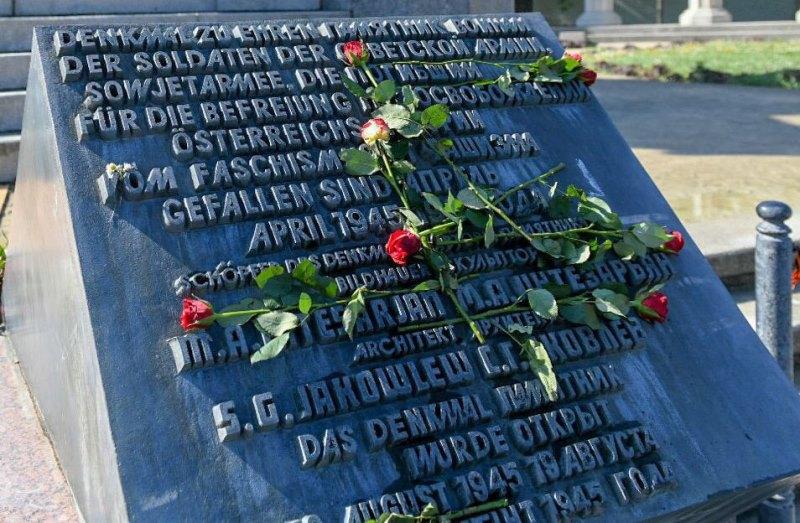 外交部长向维也纳二战烈士纪念碑献花