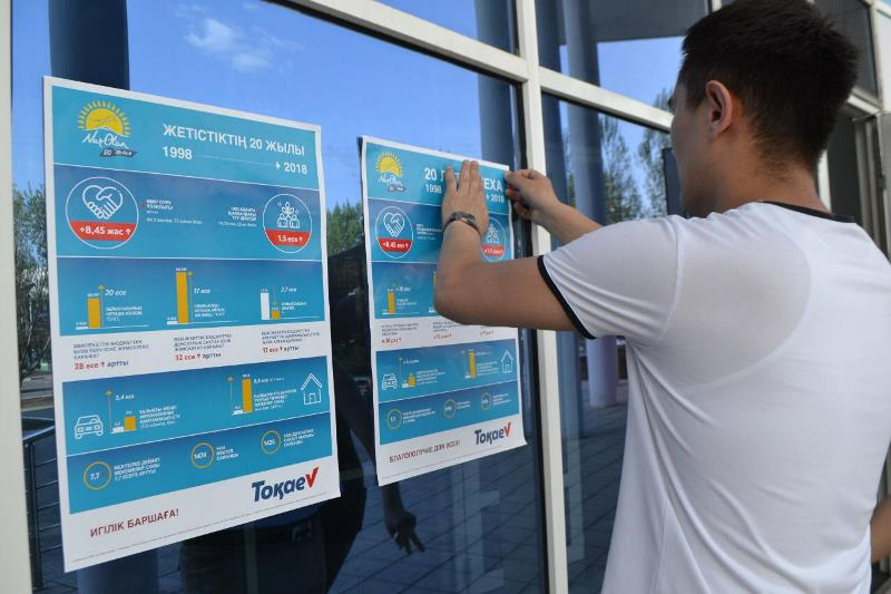 Штаб кандидата в Президенты РК Касым-Жомарта Токаева начал свою работу в СКО