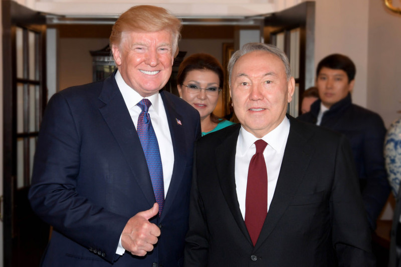 Дональд Трамп написал письмо Нурсултану Назарбаеву