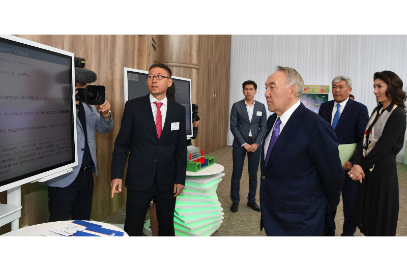 Nursultan Nazarbayev visits Int'l Green Technologies & Investments Center