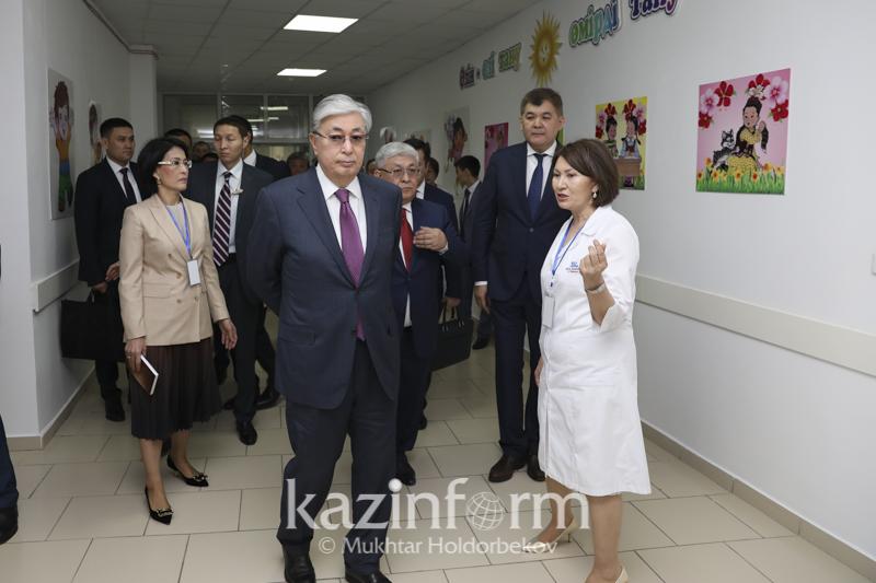 Kazakh President visits multi-faceted children's hospital in Kyzylorda