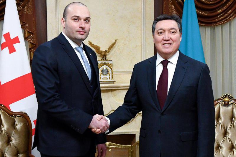 政府总理马明同格鲁吉亚总理巴赫塔泽举行会晤