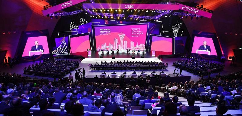 Нурсултан Назарбаев принял участие в работе XII Астанинского экономического форума