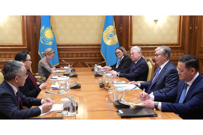 Qazaqstan Prezıdenti BUU delegatsııasymen kezdesti