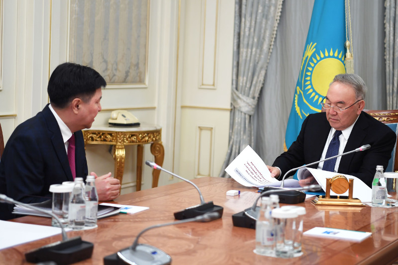 Nursultan Nazarbayev received Zhakip Assanov