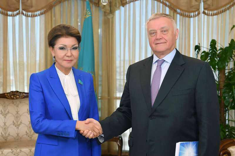 Nazarbayeva received Chairman of Supervisory Board of Dialogue of Civilizations Institute Yakunin