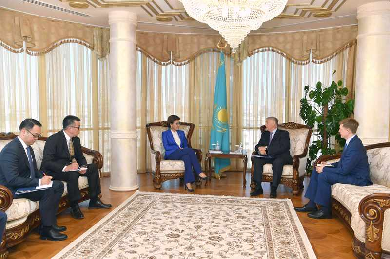 Dariga Nazarbayeva received Chairman of Supervisory Board of Dialogue of Civilizations Institute Vladimir Yakunin