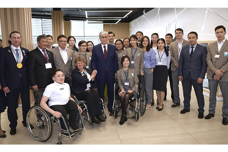 Kassym-Jomart Tokayev visits Paralympic Training Center