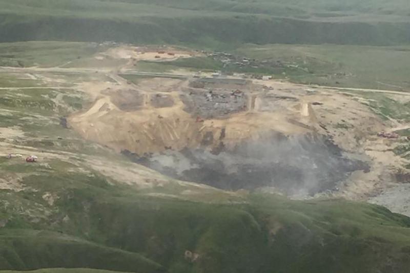 Тление на мусорном полигоне близ Алматы ликвидировали