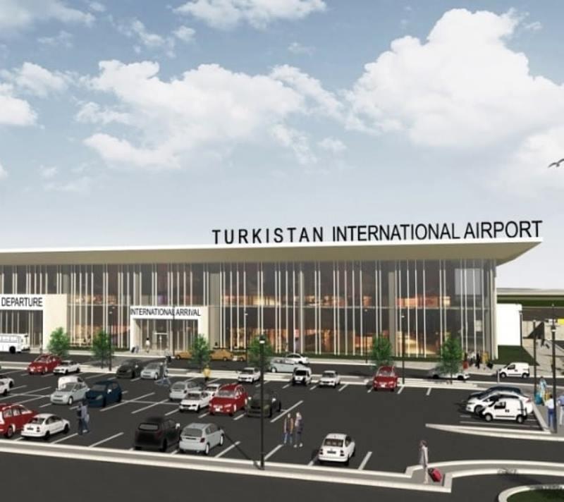 Фундамент международного аэропорта заложили в Туркестане