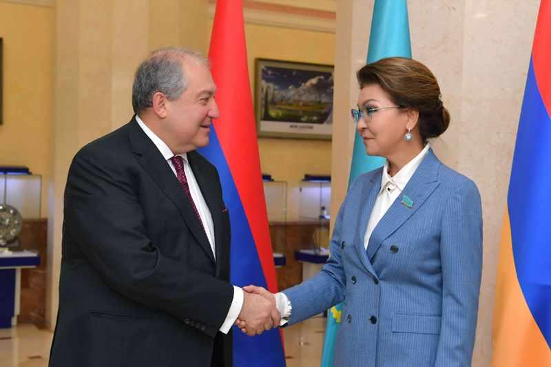 Дарига Назарбаева провела встречу с Президентом Армении