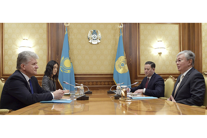 Kazakh President, UN Assistant Secretary-General for Political Affairs meet