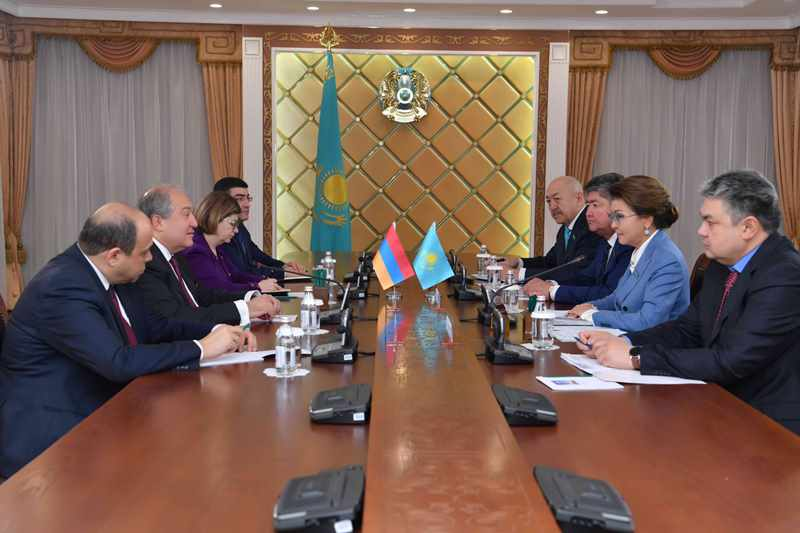 Kazakh Senate Speaker meets with Armenian President