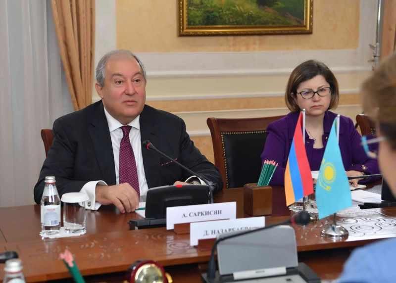 Сенат төрағасы Дариға Назарбаева Армения Президентімен  кездесті