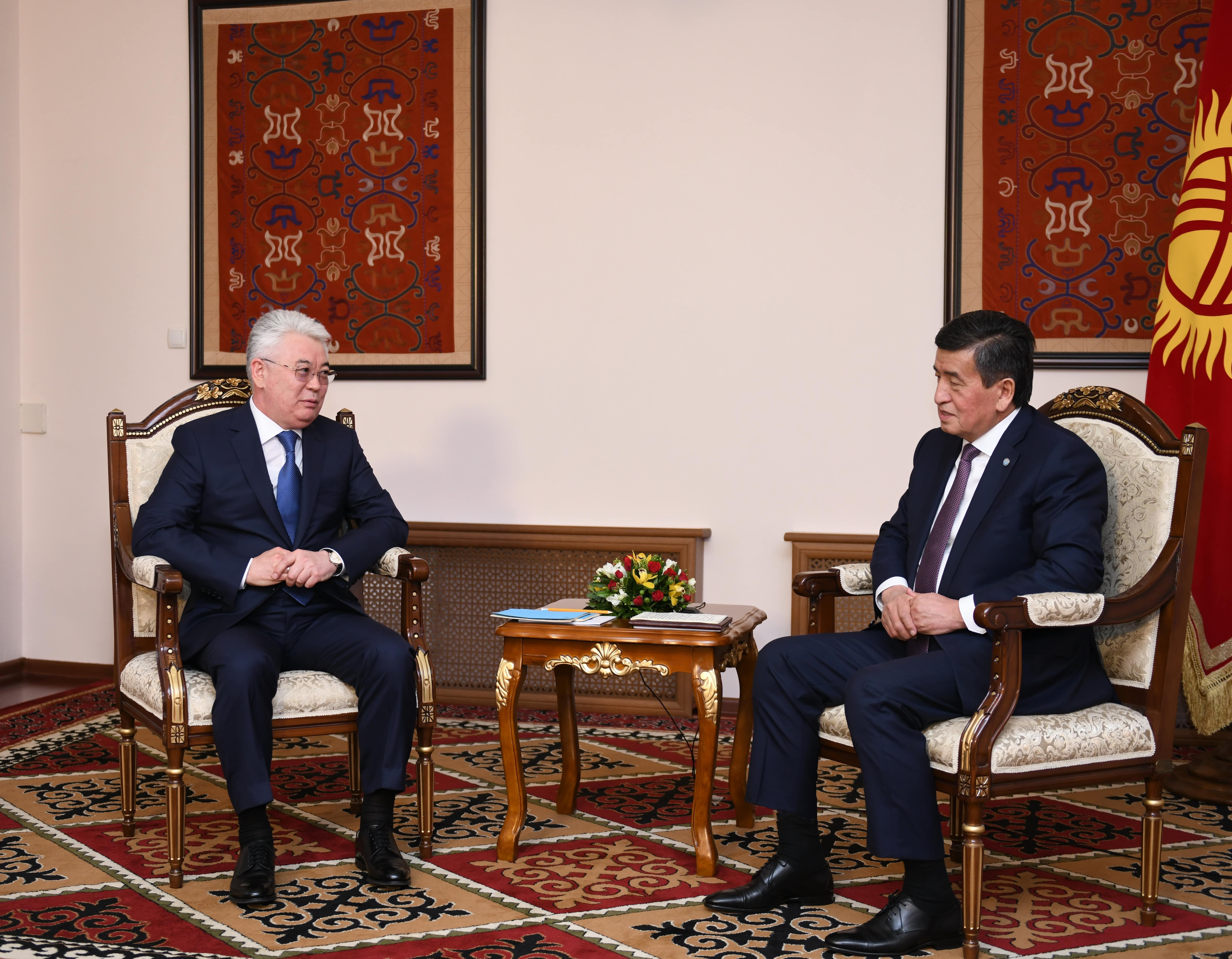 Қырғызстан Президенті Қазақстан Сыртқы істер министрін қабылдады