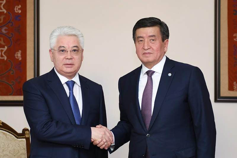 Kazakh FM, Kyrgyz President meet in Bishkek