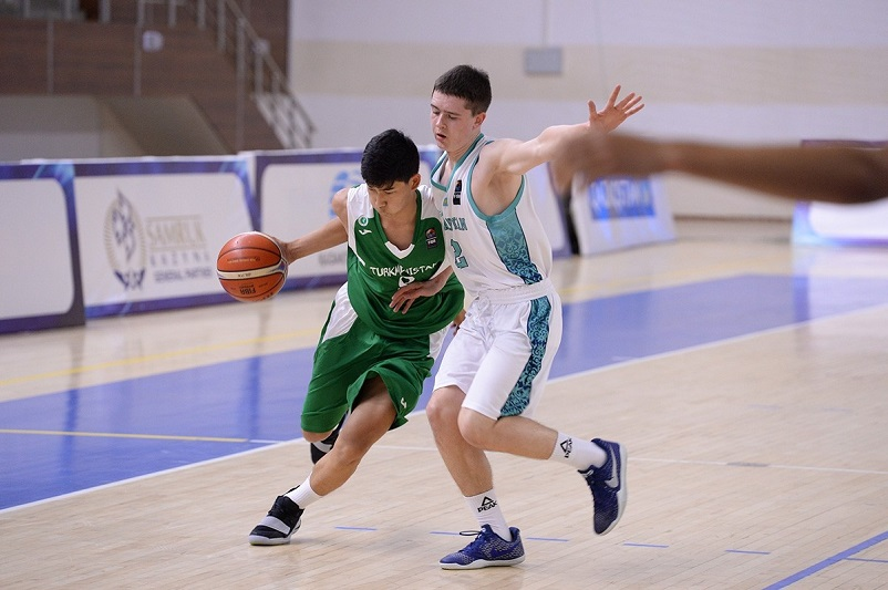 Kazakhstan basketball team beat Turkmenistan in U16 Asian Championship qualifier