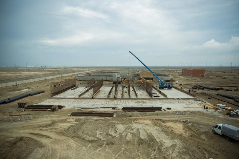 Завершается строительство новой системы канализационно-очистных сооружений в Атырау