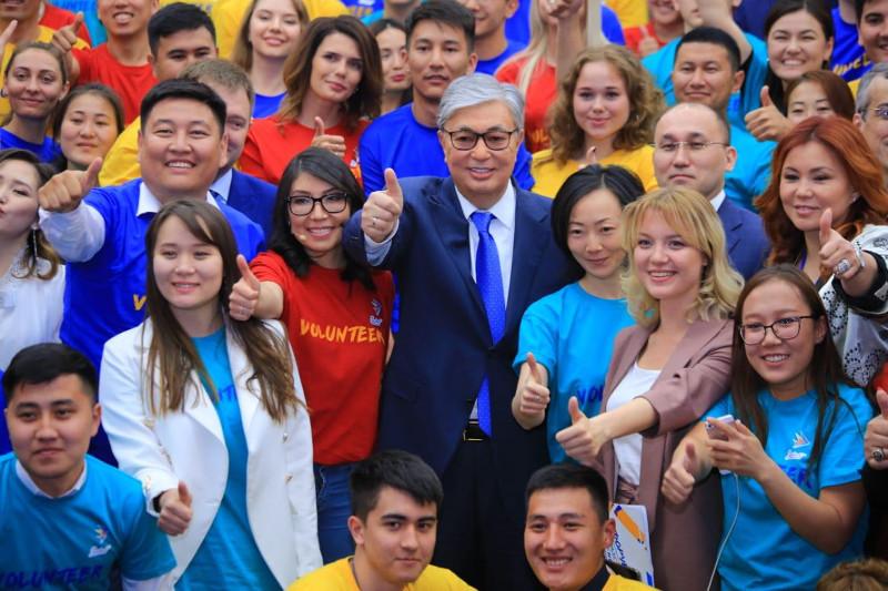 Предложение объявить 2020 год Годом волонтёрского движения поддержал Касым-Жомарт Токаев