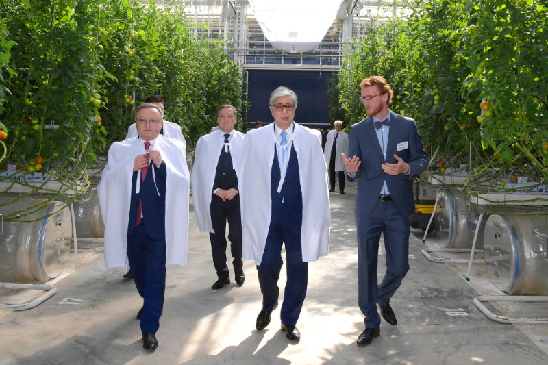 President visits Green Capital Kazakhstan greenhouse complex in Aktobe