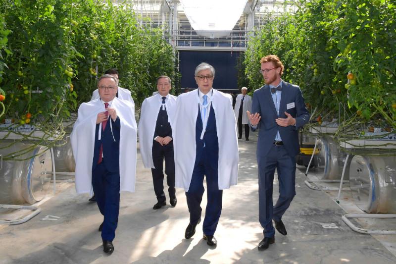 Глава государства посетил тепличный комплекс «Green Capital Kazakhstan» в Актобе